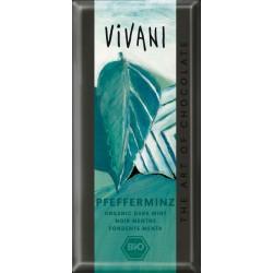 Čokoláda horká s mätou 100 g  BIO Vivani