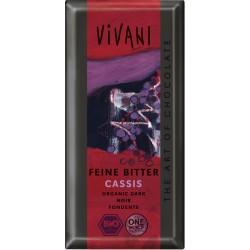 Čokoláda horká s ríbezľ. náplňou 100g  BIO Vivani