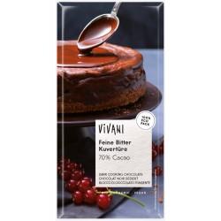 Čokoláda na varenie horká 200g  BIO Vivani