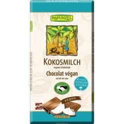 Vegan kokosová čokoláda s kokosovým mlieko 80g BIO