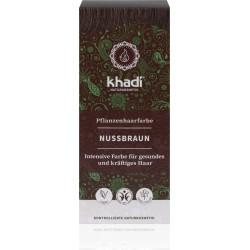 Khadi-rastlinná farba na vlasy ORIEŠKOVOHNEDÁ 100g