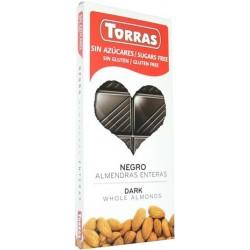 Čokoláda horká DIA s mandľami Torras 150g