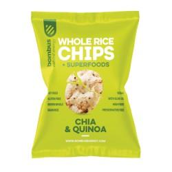 Chipsy ryžové ( Quinoa,Chia,Pšeno )- pečené  60g
