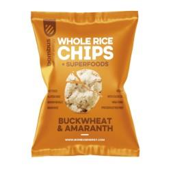 Chipsy ryžové ( Pohánka,Amarant ) - pečené  60g