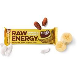 Tyčinka Raw Energy Banán Kokos 50g Bombus