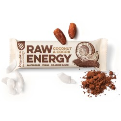 Tyčinka Raw Energy Kokos a Kakao  50g Bombus