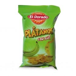 Chipsy - banánové slané  100g Platanos
