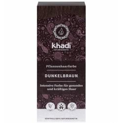 Khadi-rastlinná farba na vlasy TMAVOHNEDÁ  100g