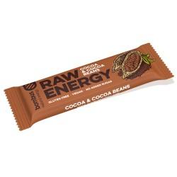 Tyčinka Raw Energy Kakao a Kakaové bôby  50g Bombu