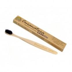 Bambusová kefka - uhlíkové  štetinky CARBON