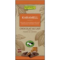 Čokoláda mliečna s náplňou karamel 100g BIO Rapunz
