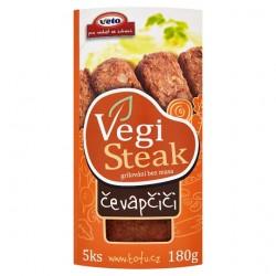 """Vegi Steak čevapčiči 180g """"VEGAN""""  VETO"""