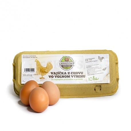 Vajcia netriedené z voľného výbehu  10ks