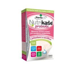 Nutrikaša probiotic jahoda vanilka 3x60 g Mogador
